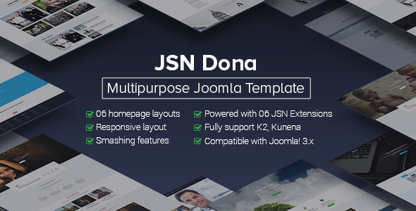 JSN Dona - Multipurpose Joomla Template  - Corporate Joomla