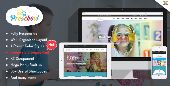 Preschool – Children Education Joomla Template for Kindergarten, Child Care Centers