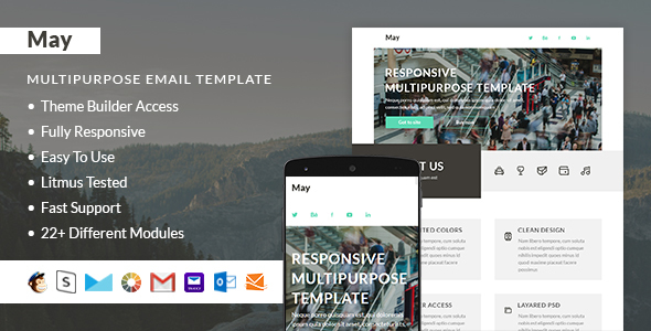 May – Responsive Email + StampReady Builder