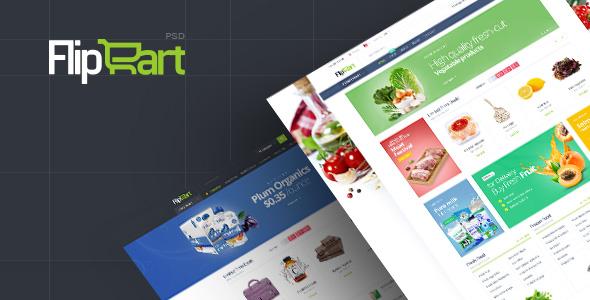 Flipcart - Supermarket PSD Template