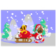 Forest Santa Claus- Bear delivers gift for animal - GraphicRiver Item for Sale