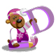 Smile bear with alphabet letter D - GraphicRiver Item for Sale