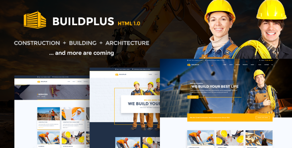 BuildPlus – Building & Construction Business HTML Template