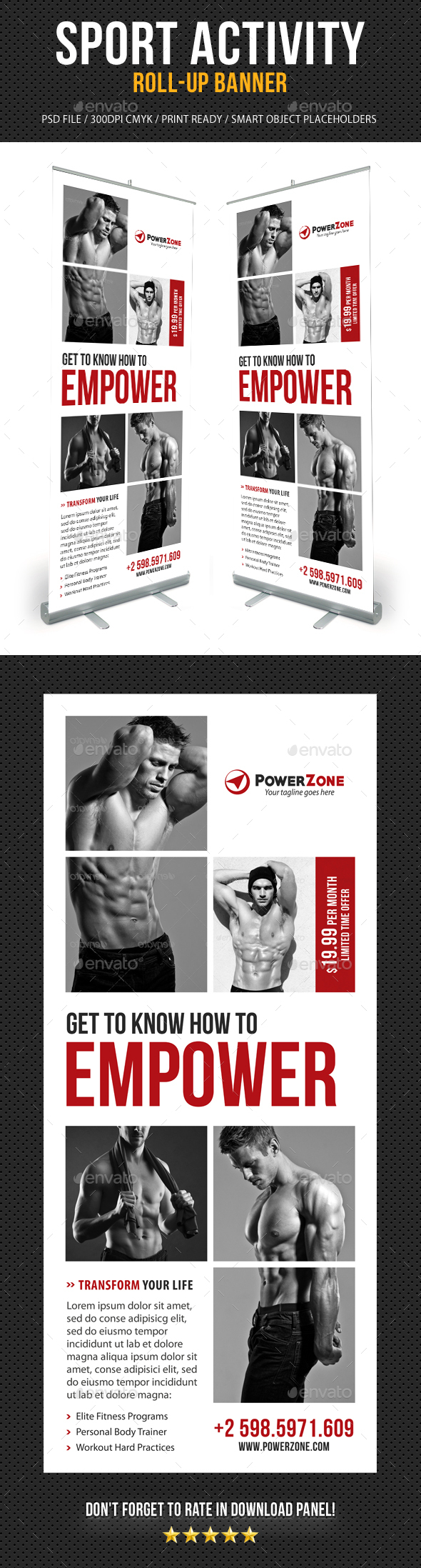 Gym Banner Graphics, Designs & Templates from GraphicRiver