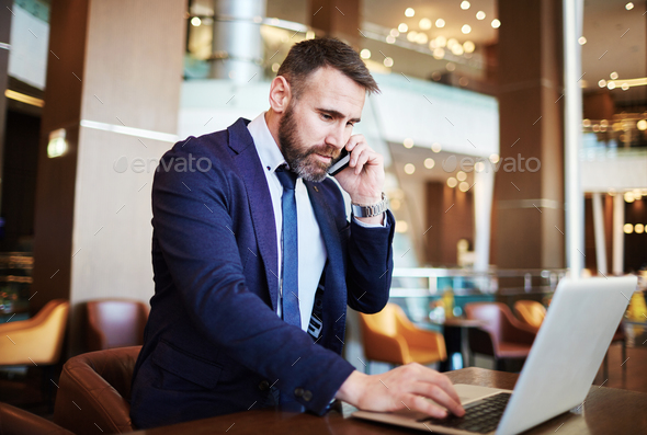 Business trip working - Stock Photo - Images