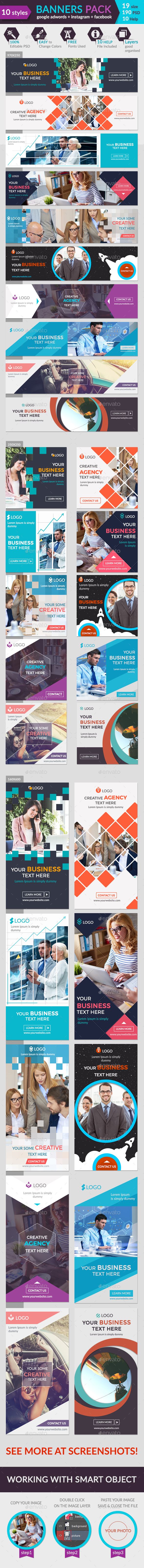 Banners Pack-1 - Banners & Ads Web Elements