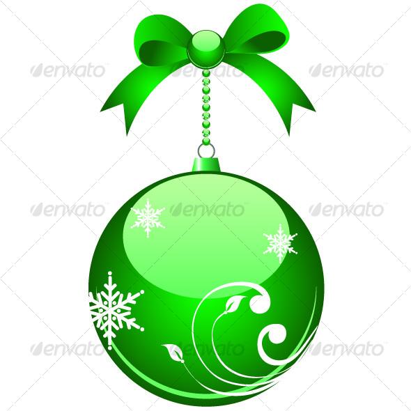 Green christmas ball - Christmas Seasons/Holidays