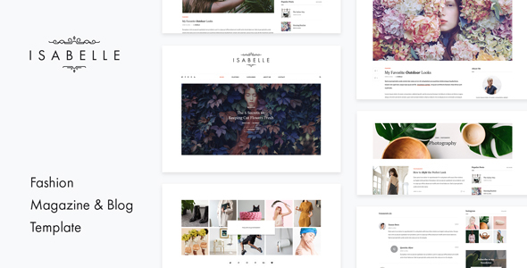 Isabelle – Personal Blog HTML Template