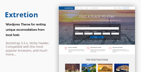 Extretion – Hotel Directory WordPress Theme
