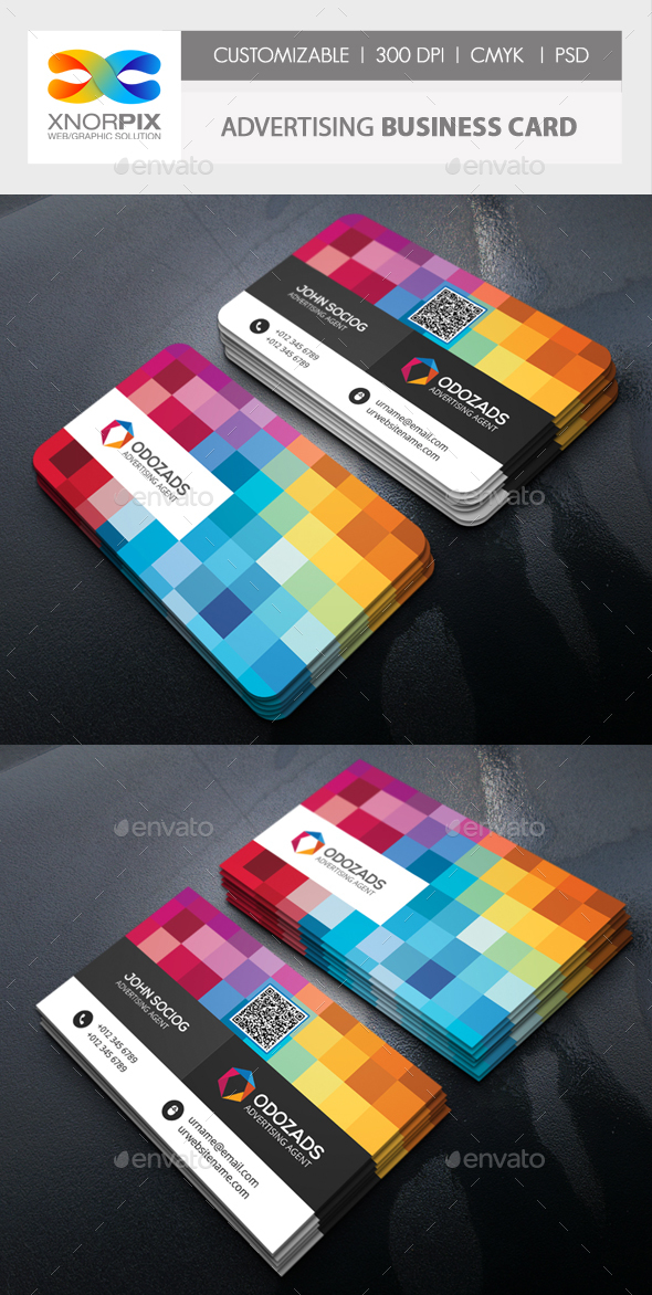 Advertising agency business card by axnorpix graphicriver advertising agency business card creative business cards reheart Gallery