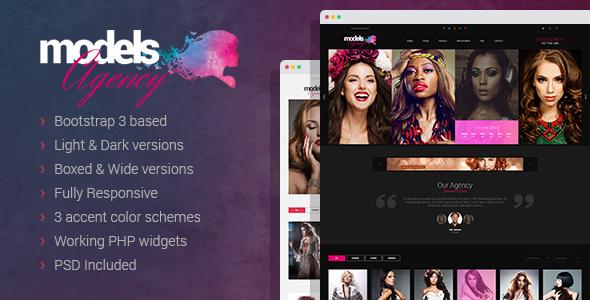 Models Agency – models portfolio HTML Template