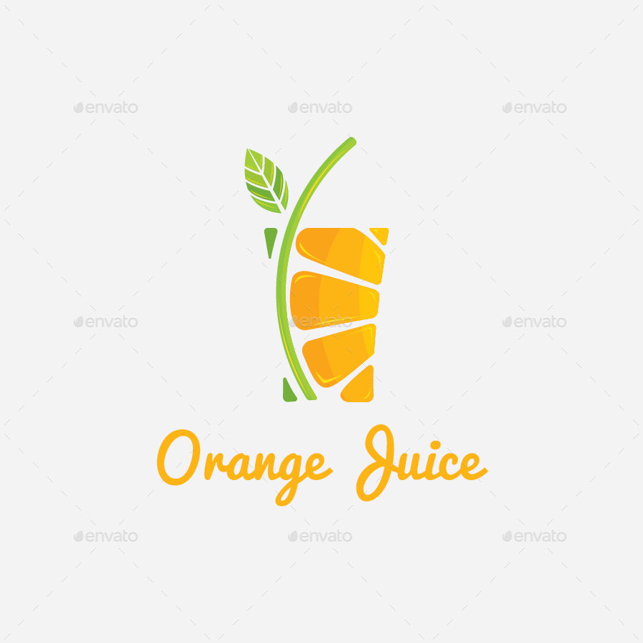 orange juice drink logo template by serbanekaid graphicriver orange juice brands logos Orange Juice Clip Art