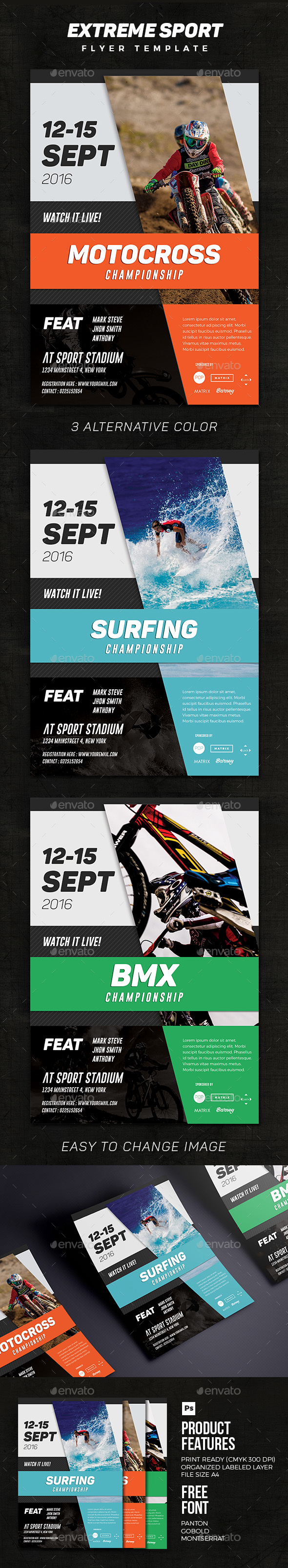 sporting event flyer templates from graphicriver page 41