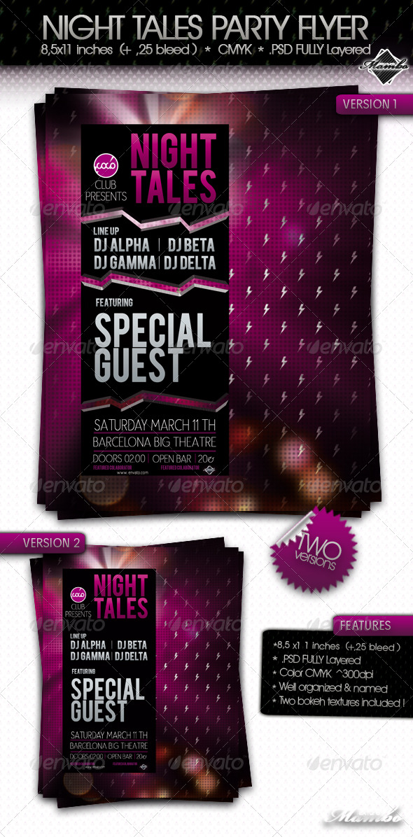 Night Tales - Party Flyer - Clubs & Parties Events