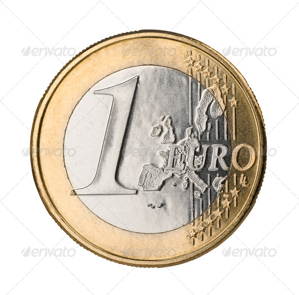 Euro coin - Stock Photo - Images