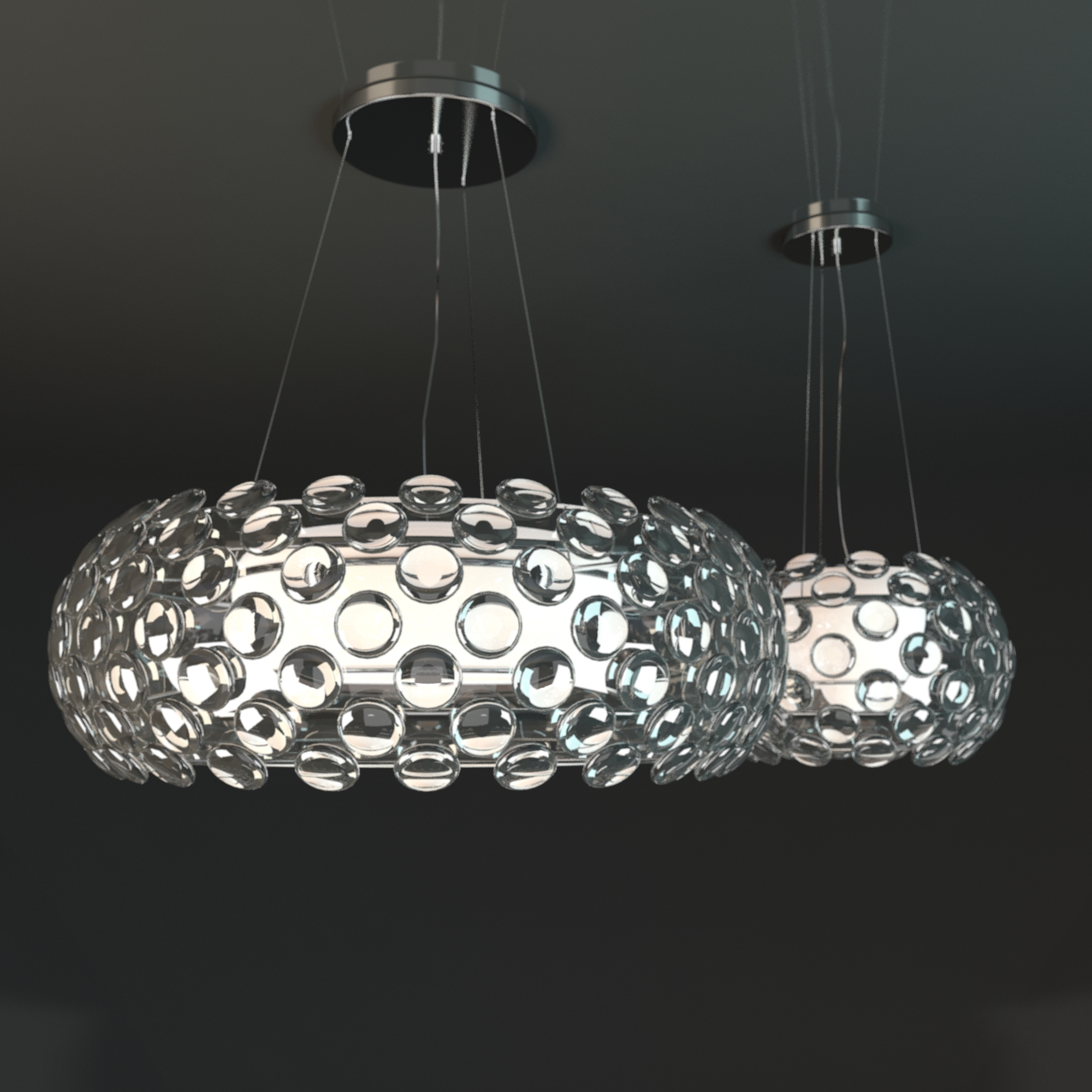 Crystal Ball chandelier by Maishang by obshansky 3DOcean