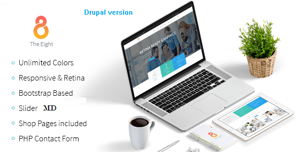 The8 - Corporate, Business Drupal Theme