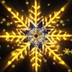 Christmas Gold Snow Flakes Pack - VideoHive Item for Sale