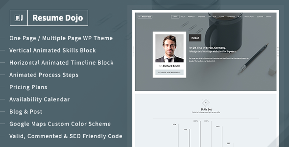 ResumeDojo – Resume & Portfolio WordPress Theme