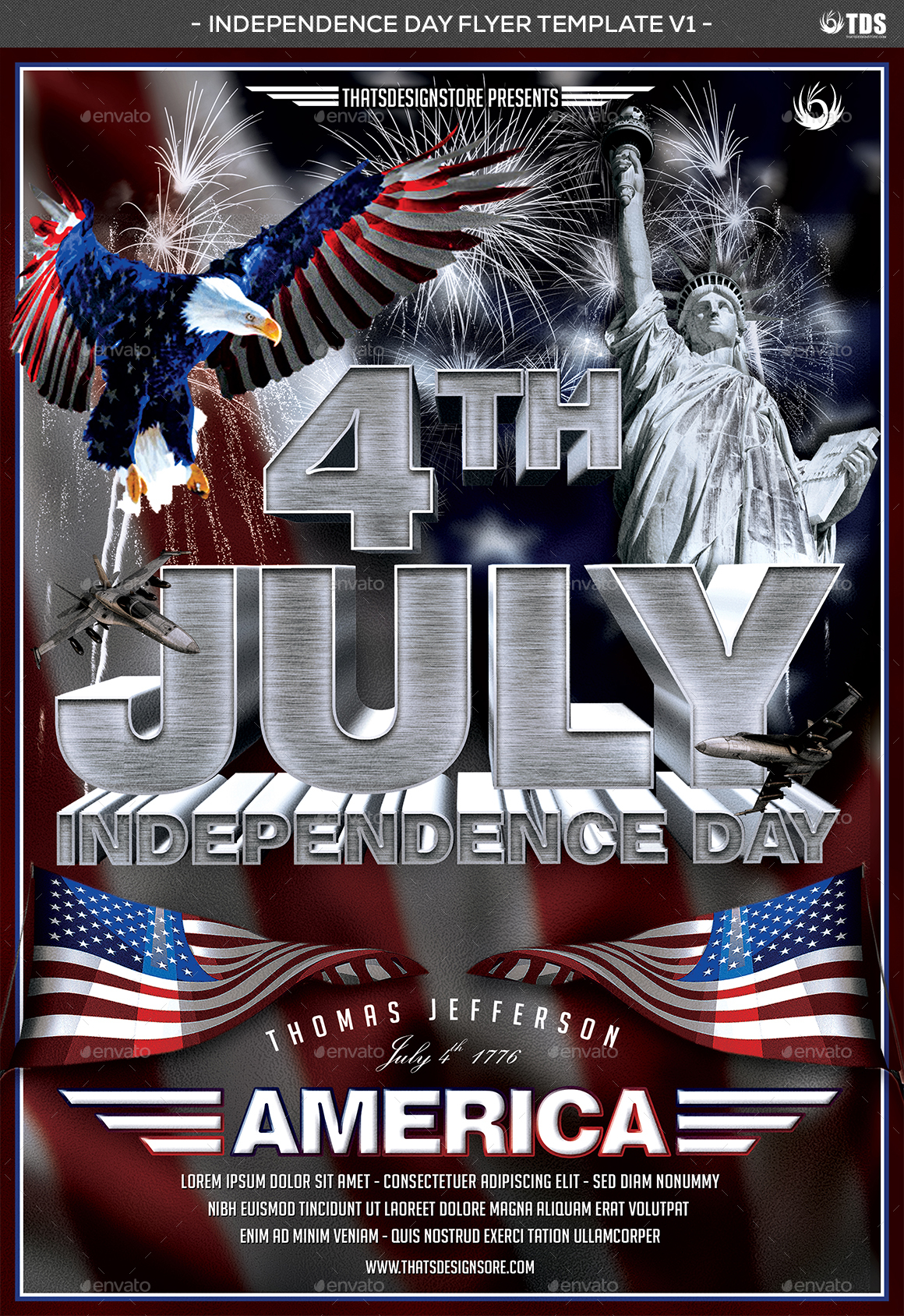 July 4 Independence Day Flyer Template V1 by lou606 | GraphicRiver