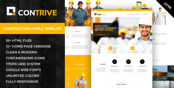 Contrive – Building & Construction HTML5 Template