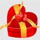 Gift box round and love - GraphicRiver Item for Sale