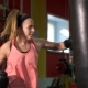 Girl Beats a PEAR In The Gym - VideoHive Item for Sale
