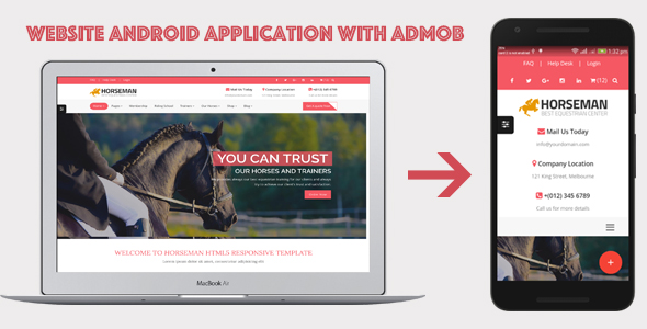 WebSite Android Application with AdMob - CodeCanyon Item for Sale