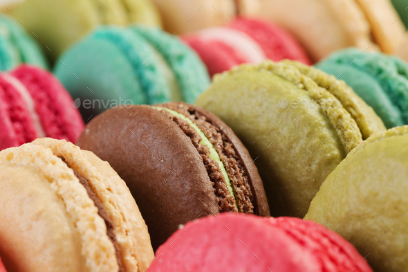 Set of delicious macaroons - Stock Photo - Images