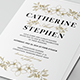 Simple Flower Wedding Invitation - GraphicRiver Item for Sale