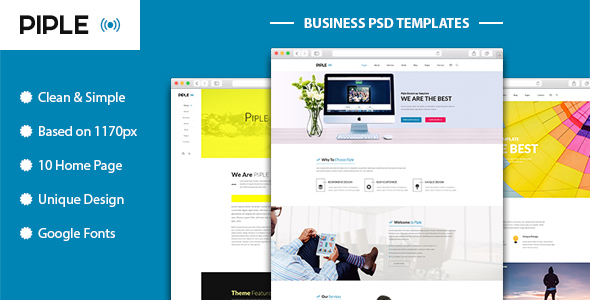 Piple-wifi – Business and multipurpose PSD Template