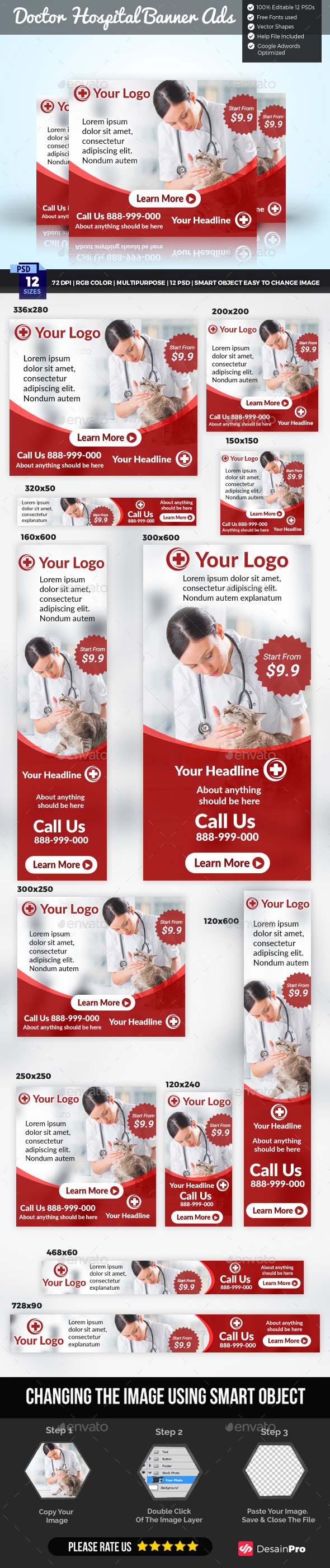 Doctor Medical Banner Template by DesainPro | GraphicRiver