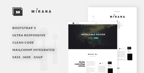 Mirana — Creative One/Multi Page Template