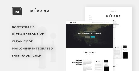 Mirana — Creative One/Multi Page Template