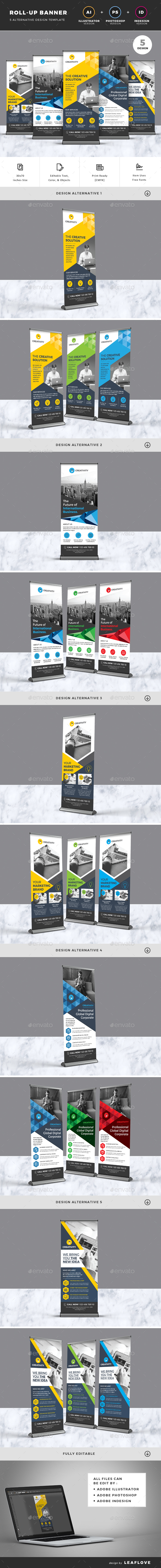 Roll Up InDesign Graphics, Designs & Templates from GraphicRiver