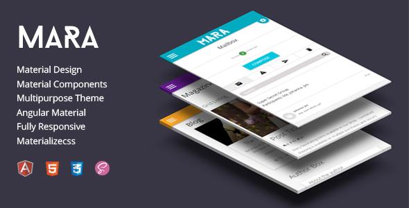 Mara | Material Design – Angular Admin Theme