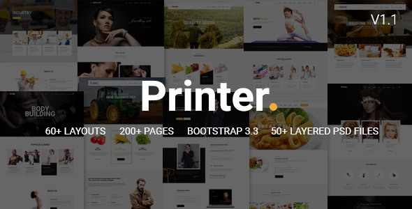 Printer - Responsive Multi-Purpose HTML5 Template - Corporate Site Templates