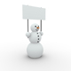 snowman with banner - GraphicRiver Item for Sale