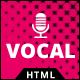 Vocal - HTMLTemplate for Voice Over or Dubbing artist - ThemeForest Item for Sale