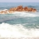 The Waves Beat On The Stone In The Mediterranean Sea - VideoHive Item for Sale