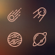 Astronomy Icons - GraphicRiver Item for Sale