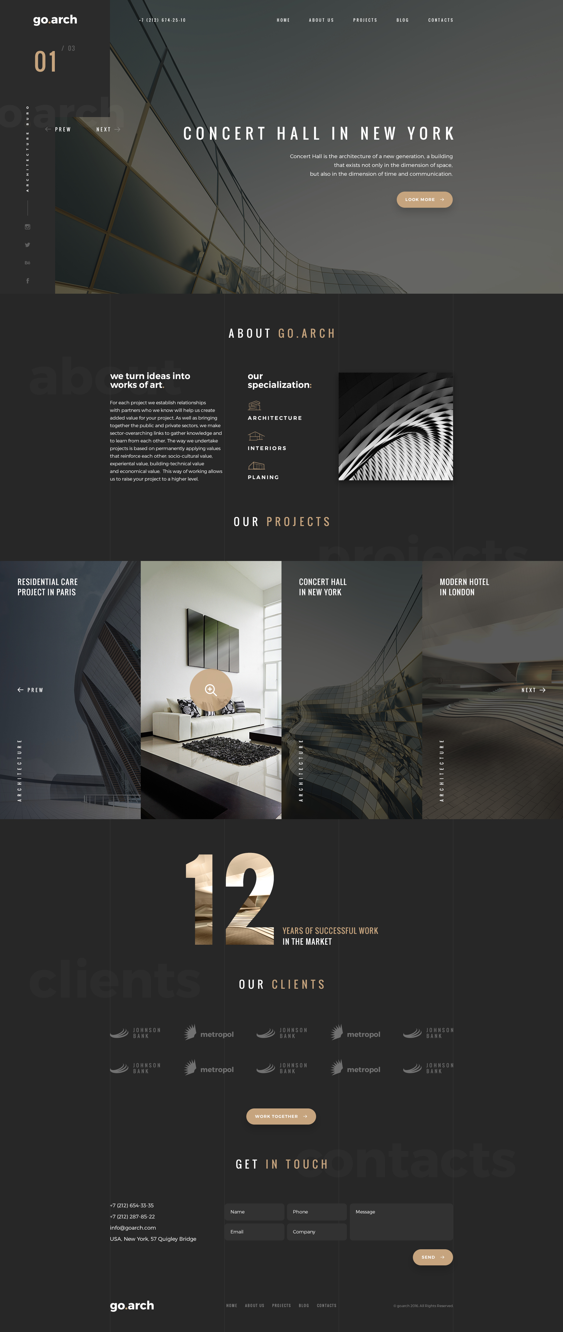Architecture Psd Template By Spartakvee2511
