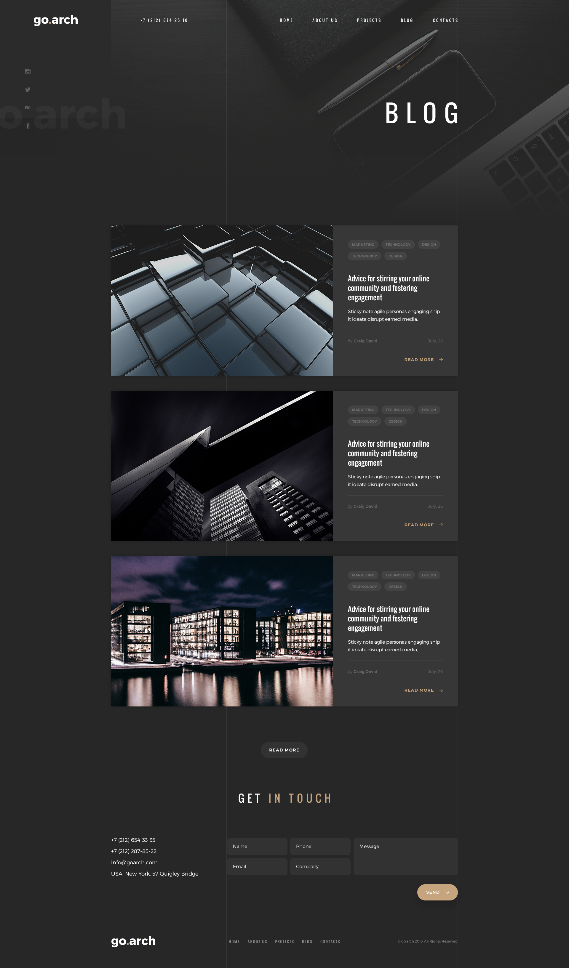 go.arch - Architecture PSD Template by spartakvee2511   ThemeForest