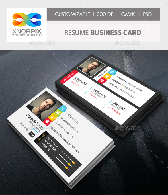 Great Resume Business Card   Creative Business Cards Intended Resume Business Cards