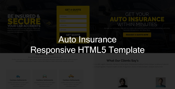 Jr. Auto Insurance - Landing Page HTML5 Bootstrap Template