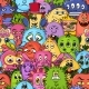 Cartoon Monsters Seamless - GraphicRiver Item for Sale