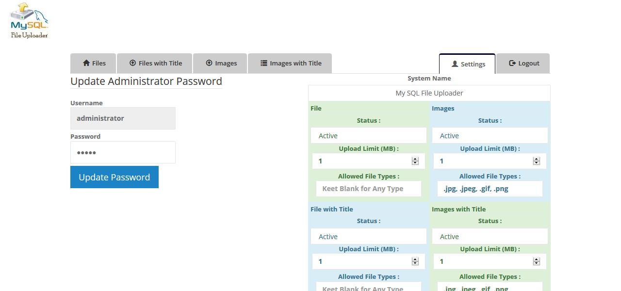 MySQL Blob Uploader - File Upload to Database PHP - Blob File Server