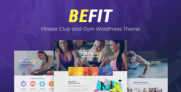 Be Fit – Fitness WordPress Theme for Gym, Yoga & Fitness Centers