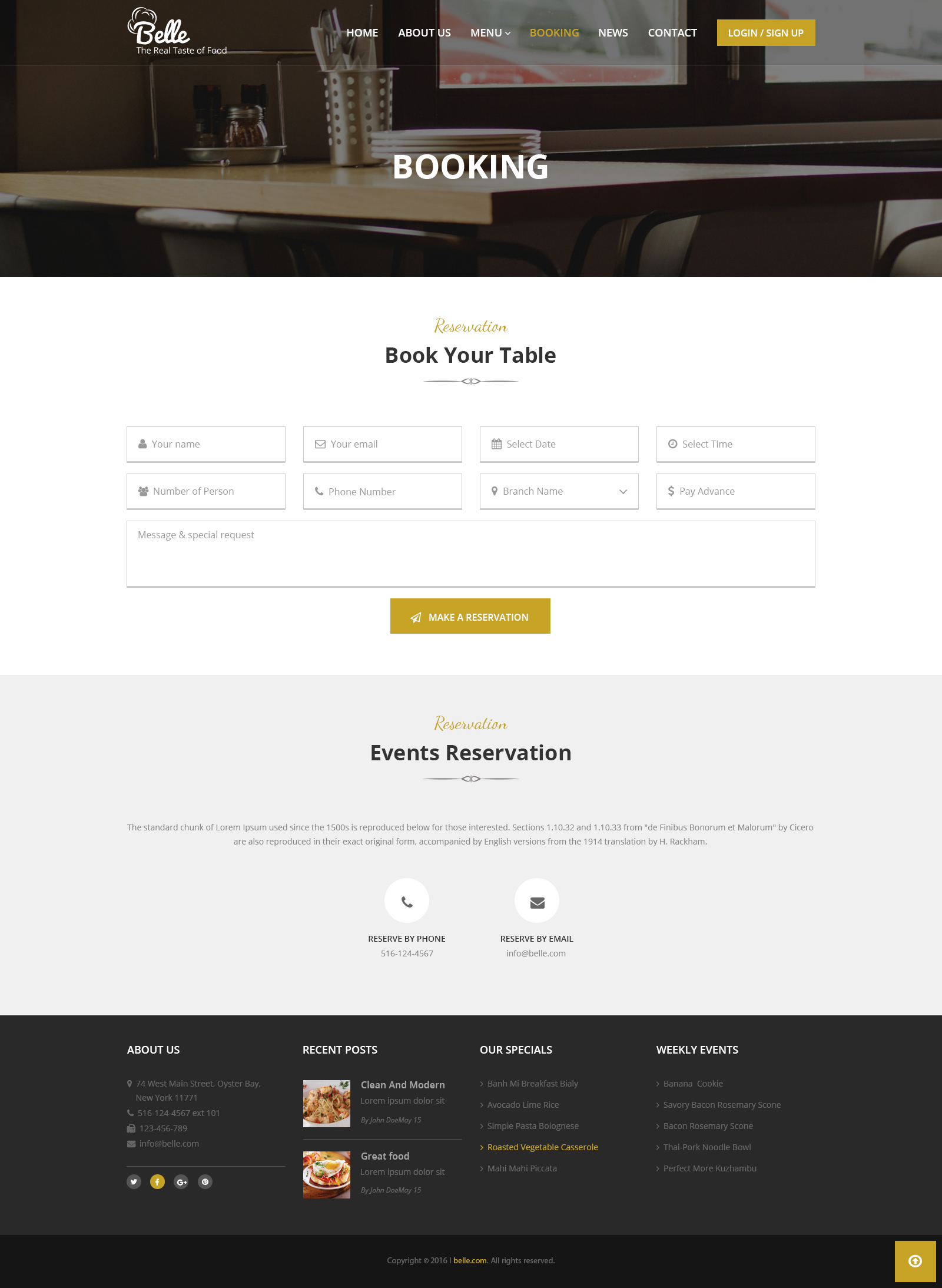 Belle - Food & Restaurant HTML Template by drcsystems-design ...