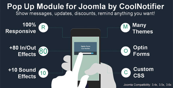CoolNotifier PopUp Module for Joomla - CodeCanyon Item for Sale